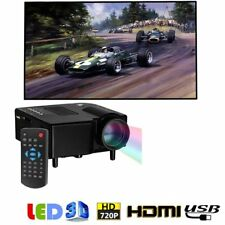 Mini 1080P Full HD LED Projector Theater Cinema 3D HDMI VGA Multimedia Lot KE