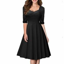 Women Pin Up Bow Ruched Tunic Half Sleeve Stretch Bodycon Dress JA744