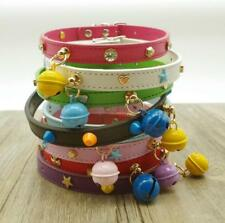 Soft Suede Leather Pet Puppy Dog Collars with Bell for Small Dog Chihuahua S M L