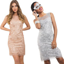 New Women's Christmas Party, Wedding Sequin Embellished Cocktail Party Dress UK