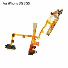 New Black Audio Headphone Jack Power Button Flex Cable for iPhone 3G 3GS