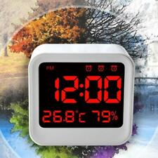 Modern USB/AAA Digital LED Alarm Clock Time Thermometer Hygrometer Snooze