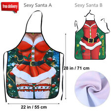 Christmas Adult Apron Kitchen Cooking Baking Xmas Fun Novelty Gift Decoration