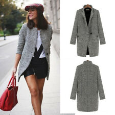Lapel Womens Long Overcoat Wool Cashmere Coat Trench Jacket