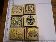WM RUBBER STAMPS HAPPY EASTER MARSHMALLOW  DUCKS  FABERGE EGG RETRO ICONS