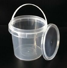 Plastic Buckets Tubs Containers with Lids Food grade CLEAR 1000ML European 1 L