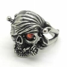 Men Mysterious Pirate Skull Red Color Zircon New Fashion Jewelry