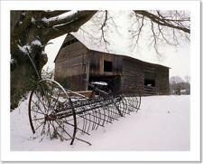 Old Barn In The Snow Art Print Home Decor Wall Art Poster - C