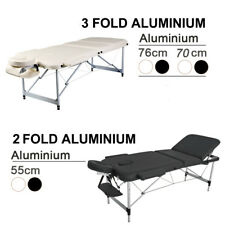 Professional 3 or 2 Folds aluminium portable Massage Table Black and White