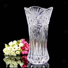 Tall Modern Cut Glass Vase Flower Pot Planter Hydroponic Pot Terrarium Decor