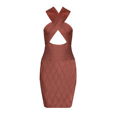 Summer Cut Out Sexy Party Backless Halter Women Bandage Bodycon Mini Dresses