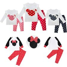 2pcs Newborn Infant Baby Boy Girl T-shirt+Polka Dot Long Pants Baby Outfits Set