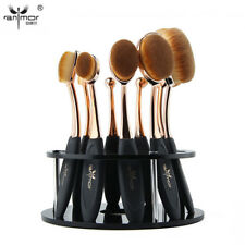 New 10Pcs Professional Makeup Brushes Set Oval Toothbrush Make Up Brushes