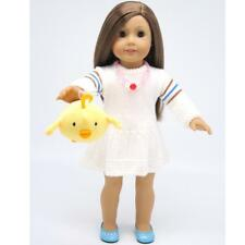 Plush Stuffed Animal Pet Doll Toy Pendant For 18' American Doll Clothes Dress Up