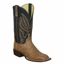 Lucchese HY2504.W8S Archer Mens Tan Old Englsh Goat Leather Cowboy Western Boots