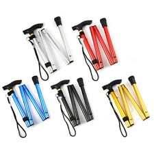 Adjustable Aluminum Metal Walking Stick Folding Collapsible Travel Cane with Non