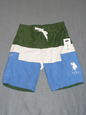 NWT Mens US Polo Assn Cargo Swim Trunks / Shorts Size Small - MSRP $42