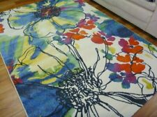 Contemporary Modern Floor Area Rugs Intrend Flowers Bright Coloured