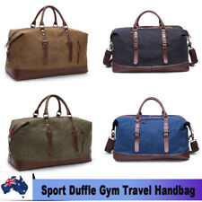 Vintage Men Gym Sports Duffle Shoulder Bag Travel Luggage Weekend Tote Handbag