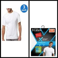 Hanes Mens Crew Neck T Shirt  X Temp White 3 Pack casual Cotton Outwear tees new