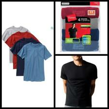 Hanes Mens 4 Pack Dyed Crew Neck T Shirt FreshIQ ComfortSoft Casual Tees new