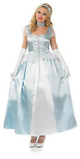 Adult Cinderella 1950s Costume Ladies Fairytale Princess Fancy Dress Outfit NEW