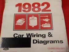 1982 FORD  LINCOLN  MERCURY WIRING DIAGRAMS FACTORY MANUAL  (FM1982C)