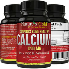 Calcium, 1200mg, Plus 1000IU Vitamin D3, Clinical Strength, Supports Bone Health