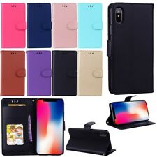 Leather Card Pocket Flip Stand Wallet Case Cover For Apple iPhone X 8 7 Plus 6S