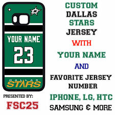 Custom DALLAS STARS Jersey w NAME Phone Case for HTC one m9 m8 LG G4  Moto x g