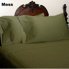 1200 TC 100%Egyptian Cotton Complete Bedding Items US Sizes Color Moss Striped