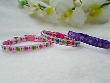 Cutie Pie Flower Puppy/Chihuahua Collar And Charm.2 Sizes Xx Small to Small.