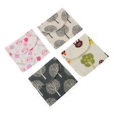 New Casual Candy Color Bags Girl Cotton Diaper Sanitary Napkin Package Bag