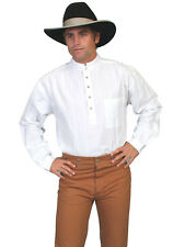 Scully RangeWear Mens White 100% Cotton Tombstone L/S Western Shirt
