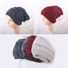 Hot! Womens Mens Knit Baggy Beanie Hats Winter Warm Oversized Ski Cap Fashion