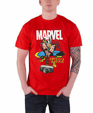 Thor T Shirt The Mighty Thor new Official Marvel Comics Mens Red