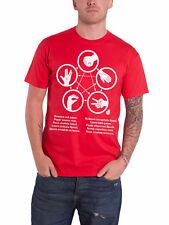 The Big Bang Theory T Shirt Rock Paper Scissors Lizard Spock Official Mens Red