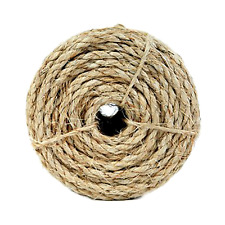 3 Strand Rope Sisal Twisted Rope - 1/4 or 3/8 by 100-Feet - Strong natural fiber