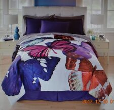 Colorful Butterfly Comforter Set Full-Queen-King