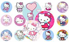 Hello Kitty Pre-Cut 1 Inch Bottle Cap Images (7 Options)