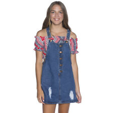 Girls High Key Pinafore in Blue