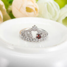 Womens Queen Crown Crystal Rhinestone Ring Size 6/7/8/9 Zinc Alloy Jewelry