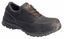 Nautilus Mens Steel Toe SD Moc Toe Oxford W Brown Leather Shoes