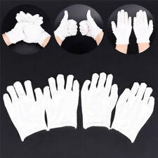 12Pairs White Inspection Cotton Lisle Work Gloves Coin Jewelry Lightweight