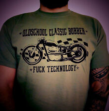 Chopper Bobber Rockabilly biker motorcycle oldschool custom t shirt