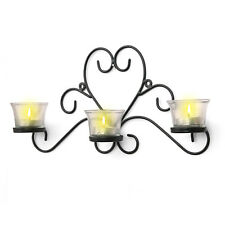 Iron Candle Holders Wall Sconces Tea Light Holder Sconce Mounted Home Decor Gift