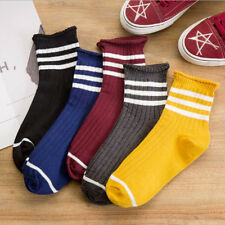 Women Girl Striped Stockings Sock Warm Elastic Ankle Socks Fashion Multi-color