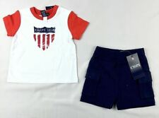 Chaps Baby Boys' 2-Piece Graphic Tee & Shorts Set sizes 3,6,9 months