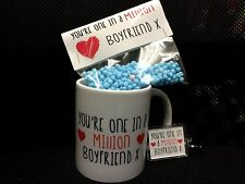 You're one in a million valentines day gift set mug keyring and sweets him her