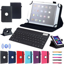 "For RCA 7"" 10.1"" Tablet Bluetooth Keyboard Universal Rotating PU Leather Cover"